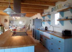 Kitchen area in Del Cielo Corfu villa