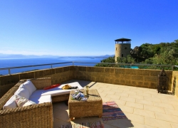 Private roof terrace of Del Cielo Villa Corfu