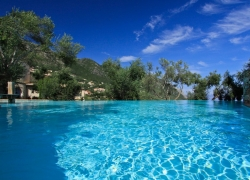 Villa swimming pool, Del Cielo Corfu
