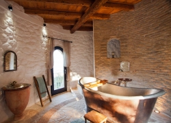 Vintage style bathroom at Villa in Corfu