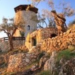 corfu villa stone tower