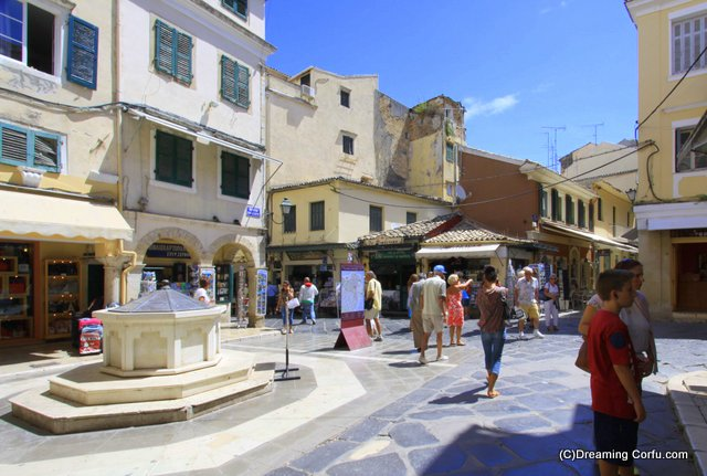Visting Corfu Town; the Piazza