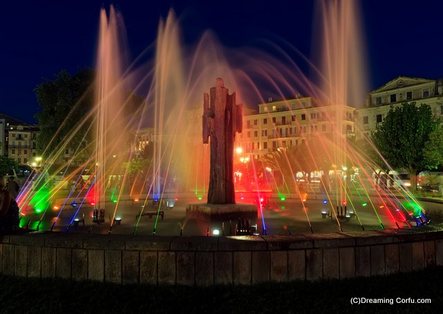 Spianada Fountains in Corfu Town
