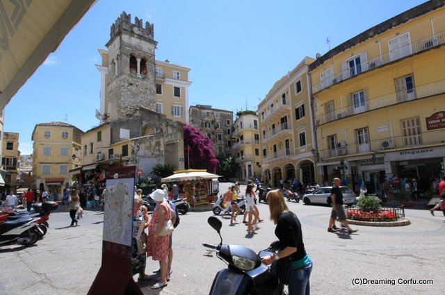 The old historical centre of Corfu