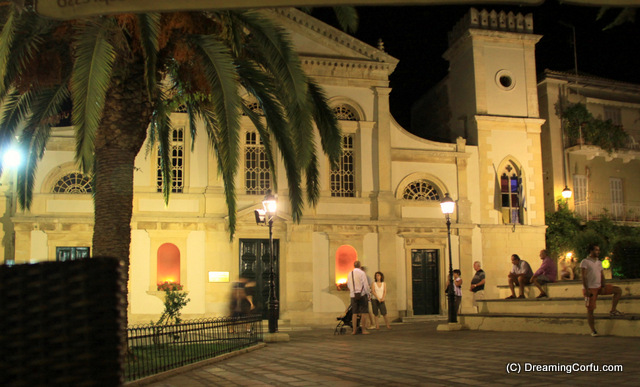 Visiting Corfu Town by night