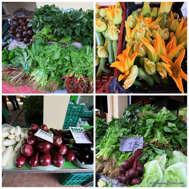 Visiting the food market in Corfu Town